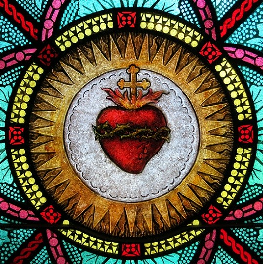 All_Saints_Catholic_Church_St._Peters_Missouri_-_stained_glass_sacristy_Sacred_Heart_detail